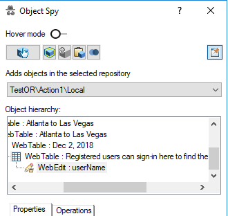 Hierarchy in Object Spy