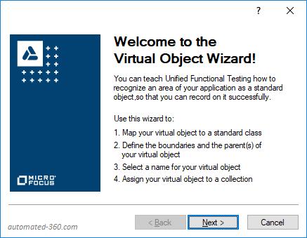 Virtual Object Welcome Screen