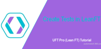 LeanFT Tutorial - Create Tests in LeanFT