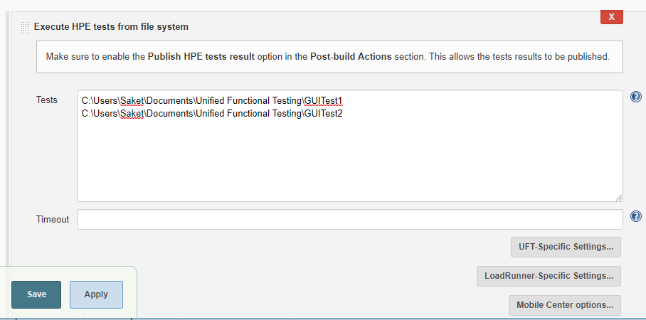Jenkins - Execute HPE Tests