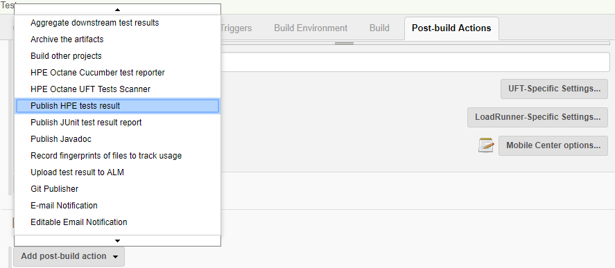 Jenkins - Post Build Actions